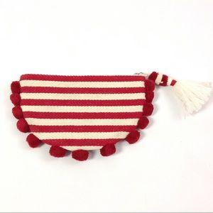 Handbags - New Boho Chic Clutch Bag Tassel Striped Pom Pom